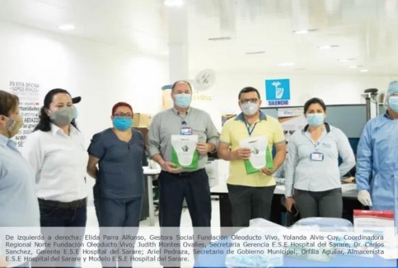 ODL y Bicentenario a través de la Fundación Oleoducto Vivo entregan ayudas para enfrentar el Covid-19